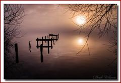 Ye Ole Jetty (Deek Wilson) Tags: loughneagh jetty woodenjetty water ripples northernireland ulster lough sunrise for landscape seascape mist misty foggy