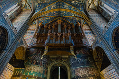 The great organ, Albi Cathedral (andbog) Tags: sony alpha ilce a6000 sonya6000 emount mirrorless csc sonya sonyα sonyalpha sony⍺6000 sonyilce6000 sonyalpha6000 ⍺6000 ilce6000 architettura architecture building edificio church chiesa iglesia catedral cathedral cattedrale indoor interior handheld gothic inner window finestra stainedglass apsc windows finestre manual mf manualfocus primelens manualfocusing samyang samyang12mmf20ncscs 12mmf20 12mm f20 wideangle colonne columns ceiling volta vaults bóvedas voûtes crucero crociera crossing albi france francia fr languedocroussillon occitanie occitania midipyrénées tarn unesco it medieval église painting dipinto
