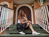 Patricia Ortega (polianaamaral) Tags: retrato sessão modelo linda andré santo nikon escadas grade jardim casa