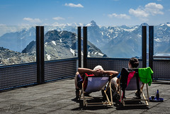 I can lean back and relax (Maya K. Photography) Tags: landscape heidsee europe colors bluesky mountain light snow sky daylight day summer nikon switzerland grisons lenzerheude people mountains nature naturephotography country land rocks hiking lines trail nikond5000 nikkor photo photography lights shadows holiday vacation flickr glass view clouds trip relaxation relax majkakmecova mayak mayakphotography