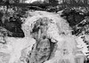 Ice Covered Shequaga Falls (LJS74) Tags: shequagafalls montourfalls fingerlakes newyorkstate waterfalls waterfall landscape nature bridge ice snow rocks blackandwhite blackwhite bw monochrome