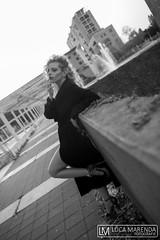 """MILANO"" (valeriafoglia) Tags: model makeup milano creative composition capture city light girl black dress beautiful beauty blonde blackandwhite baby elegance fashion glam photography photo pretty"