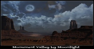 Monument Valley by Moonlight