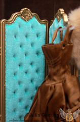 Screen with a carved flower 1:4 (JuliaGart) Tags: scale 14 screen furniture for dolls numina sybarite kd julia gartung order