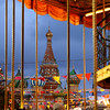 Moscow Xmas Market (Frédéric Lefebvre - Landscape photography) Tags: moscow xmas saintbasile cathedral redsquare colorful heurebleue bluehour golden carousel roundabout manege children happy russia russian xmaslight