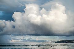 cumulus and waterspout, Freshwater, 2013  #P1070491 (lynnb's snaps) Tags: 2013 freshwater lx3 clouds digital landscape nature ocean beach coast sydney australia cumulus sunset waterspout colour