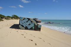 Good Vibes Only on the Beach (trailwalker52) Tags: hawaii oahu beach art goodvibes goodvibesonly grafitti beachgrafitti cool sky sand