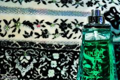 Fragrance of Arabia (smzoha) Tags: bottle unique fragrance arabic design bizarre abstract vibrant green colorful spray inabottle macro macromonday 7dwf