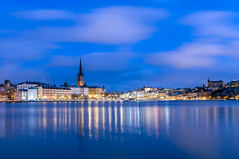 Stockholm winter (Maria_Globetrotter) Tags: stockholm img8836lr snö snow winter vinter blue hour twilight sweden schweden schnee