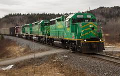 Green Paint on the Main - Saint John, NB (CWentzell Photography) Tags: nbsr newbrunswick new brunswick southern railway freight train motivepower locomotives units saintjohn canada winter 2018