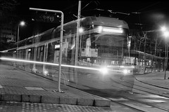 So many trams (vladixp) Tags: fujifilm neopan acros acros100 xtol 18c pf7250u 35mm zenit 12xp zenit12xp 3600dpi bw bwfilm film filmphotography negative scanned helios44m4 불가리아 블가리아 בולגריה 保加利亞 βουλγαρία бугарска болгарія болгария българия bugarska bulgaria bulgarien bulgaaria bulgario bulgarie bulgarija bulgārija bulgarije bułgaria bullgaria bulgaristan 保加利亚 بلغاريا ブルガリア night longexposure vehicle headlights k2 nd64 tripod краснаполяна pesa swing 2301 starwars railway ghost tram streetcar transportation mind sofia 2322 teleportation vehicleteleportation