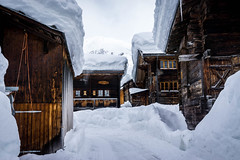 Winter Village (cs_one) Tags: chalet cold outdoors barn winter season sky snowy switzerland icy outdoor traditional valais icicle snowcapped crystal village frost covering oberwald ice scenic frozen solid roof goms environment snow europe weather mountain