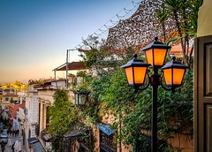 Afternoon  in Plaka (Arian Theodoris) Tags: greece athens plaka afternoon coffeetime walking streetlamps street streetphotography sky sunrise sunset traditional samsungs7 lightroom city people flowers flickr