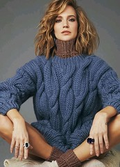 Blonde girl cable turtleneck sweater wool knit rib socks (joted_77new) Tags: wool layer girl socks cableknit sweater turtleneck preparedforweb
