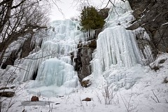 gros cap / frozen waterfall (twurdemann) Tags: frozen frozenwaterfall fujixt1 groscap ice lakesuperior landscape ontario princetownship waterfall whitefishbay winter xf14mm