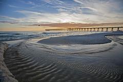 Big Picture Sunset (lightonthewater) Tags: pier panamacitybeach ocean gulfofmexico waves water sand beach bluesky sunset sky florida clouds