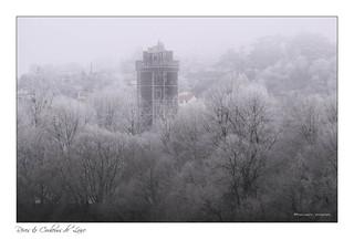 grande fraîcheur sur la tour du village de Oudon
