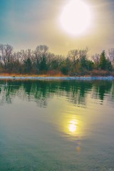 Sundown (A Great Capture) Tags: island nature urban park snowy water sky vertical toromto ontario lake reflection sun dusk sunset sundown snow winter agreatcapture agc wwwagreatcapturecom adjm ash2276 ashleylduffus ald mobilejay jamesmitchell toronto on canada canadian photographer northamerica torontoexplore l'hiver 2018