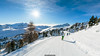 Lovely path (Nicola Pezzoli) Tags: dolomiti dolomites unesco val gardena winter snow alto adige italy bolzano mountain nature december passo sella città sassi sun star flare blue sky ski sunny