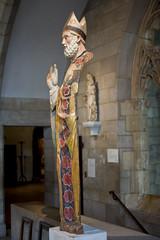 disturbing omission (knkppr) Tags: newyorkcity cloisters met middle ages wood sculpture broken painted st nicholas bari