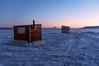 Sunrise at Petrie Island (PaulPagéPhotos) Tags: d850 ice frozen winter shelter fishinghuts iceshacks petrieisland ottawariver icefishing