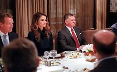 جلالة الملك عبدالله الثاني، يستقبل بحضور جلالة الملكة رانيا العبدالله، وفدا من أعضاء الكونغرس الأمريكي برئاسة السيناتور ليندسي غراهام (Royal Hashemite Court) Tags: kingabdullahii queen rania al abdullah us senator jordan royalhashemitecourt rhcjo