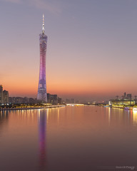 Cantontower twilight (kevinho86) Tags: eos6d 24mm wideangle twilight tower canton cantontower downtown canon colour city cityscapes citylights citynights night nightscape longexposures lightshadow landmark skyline 空 建築 珠江新城 pearlrivernewtown 城市 guangzhou reflection water 天際線 simple art architecture 都會