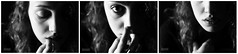 breath (alph.photo) Tags: portrait intimate triptych girl pretty beautiful curly soul emotional monochrome biancoenero italian eyes hand lips