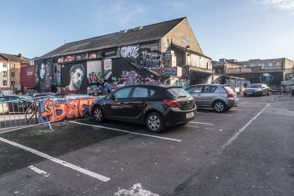 STREET ART AT THE TIVOLI CAR PARK IN DUBLIN [LAST CHANCE BEFORE THE SITE IS REDEVELOPED]-135631