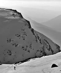 Cliffs (Yokels) Tags: uk britain scotland highlands mountain munro snow winter bw blackandwhite beinndorain