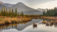 Evening at Third Vermilion (Kirk Lougheed) Tags: alberta banff banffnationalpark canada canadian vermilionlake autumn fall lake landscape mountain nationalpark outdoor park water