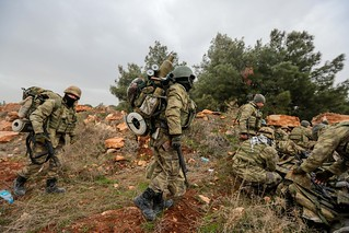 Turkish soldiers in Afrin, Syria