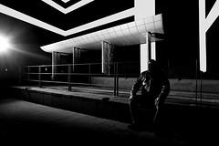 Bus Stop.jpg (___INFINITY___) Tags: 6d aberdeen bw canon darrenwright dazza1040 eos flash infinity light magiclantern me night selfie strobist uk