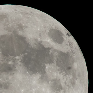 International Space Station Transits the Full Moon
