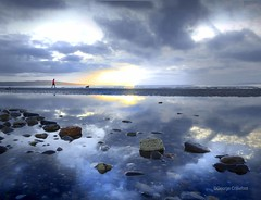 Prestwick Sunset1 (g crawford) Tags: crawford prestwick ayrshire southayrshire sunset sundown beach water clyde firthofclyde reflect reflection sky pictureoftheday pod potd herald glasgowherald 160