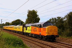 Heading Down to Harwich (Chris Baines) Tags: network rail test train colas 37254 working harwich town nether hall crossing