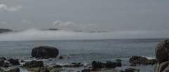 playa de la lanzada (M,L.C.*) Tags: mar océano cielo bruma niebla bahia agua nubes piedras rocas aire