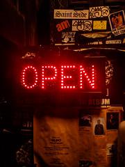 #50 Ready for business (tokyobogue) Tags: tokyo japan shibuya nexus6p nexus red sign open shop doorway night