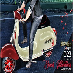 Bravis Valentines Lambretta GP (Bravis Ltd) Tags: bike bikes motorcycle bravis rock track race racing car motor vehicle trike chopper low rod garage mechanic custom unique ferrari bmw triumph lambretta drag hot second life secondlife sl wheel gay sexy rupaul sport d23 event
