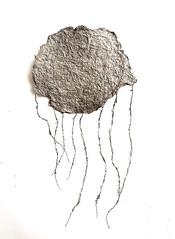 Study (Ines Seidel) Tags: yarn study workinprogress cloud shape newspaper pulp paper paperart grey form papier zeitung