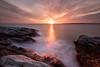 Sunset with Ocean (SPnature) Tags: ocean longexposure rockyocean newport canon 5d landscape nature favorforfavor