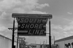 South Shore (William 74) Tags: neonsign vintage southshore railroad illinoisrailwaymuseum classic blackandwhite bw blackwhite film ansco