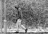Livin' the dream (Mick Steff) Tags: snow cold alone single male street urban lamppost manchester black white monochrome mono grass portrait