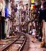 life in hanoi (hmong135) Tags: railwaytracks vietnam living residences life crowded