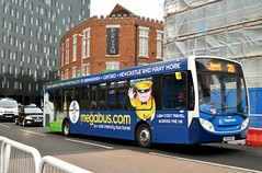 27877 GX13AOY (PD3.) Tags: 27877 gx13aoy gx13 aoy adl enviro 300 megabus com advert wrap bus buses psv pcv hampshire hants england uk portsmouth stagecoach