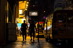 Yellow Night (parenthesedemparenthese@yahoo.com) Tags: dem asia asie colors couleurs men silhouette street streetphotgraphy ville yellow canoneos600d cars dehors dehorshongkong ef50mmf18ii enseigne exterieur hommes jaune night outdoors photographiederue rue streetphotographie town voitures