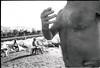 (Flashfront) (Robbie McIntosh) Tags: leicamp leica mp rangefinder streetphotography 35mm film pellicola analog analogue negative leicam analogico blackandwhite bw biancoenero bn monochrome argentique dyi selfdeveloped filmisnotdead autaut candid strangers leicaelmarit28mmf28iii elmarit28mmf28iii elmarit 28mm bathers sea seaside tan ilfordilfoteclc29 ilfoteclc29 lc29 summer summertime mappatellabeach lidomappatella chest speedo man ilfordfp4 fp4 gesture