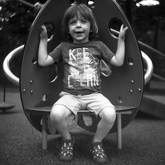 (patrickjoust) Tags: super ricohflex kodak plusx 100 expired 1992 developed rodinal 150 tlr twin lens reflex 120 6x6 medium format film black white bw home develop discontinued blancetnoir blancoynegro schwarzundweiss manual focus analog mechanical patrick joust patrickjoust llewelyn kid boy portrait united states north america estados unidos urban street city playground charles village wyman park dell baltimore maryland md usa us smile