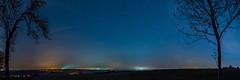 Starry Sky No. 2 - Upper Franconia, Germany (dejott1708) Tags: starry sky stars trees lights night shot long exposure panorama landscape