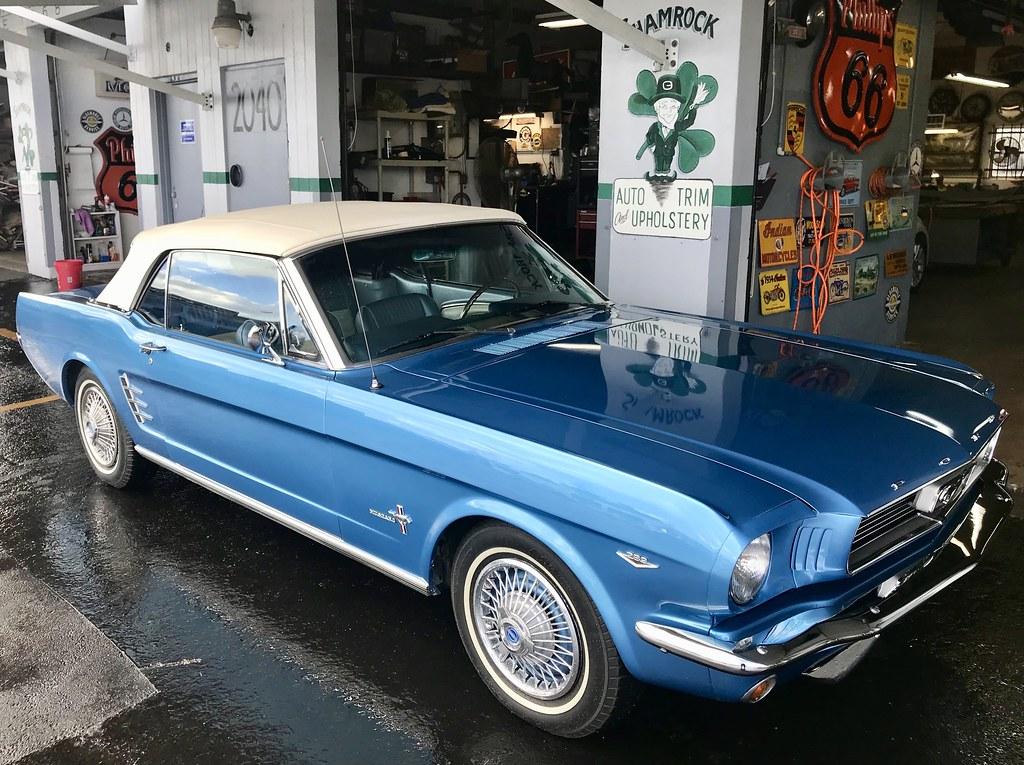 1966 Mustang convertible top by Shamrock Auto Trim of North Miami Beach (Shamrock Auto Trim
